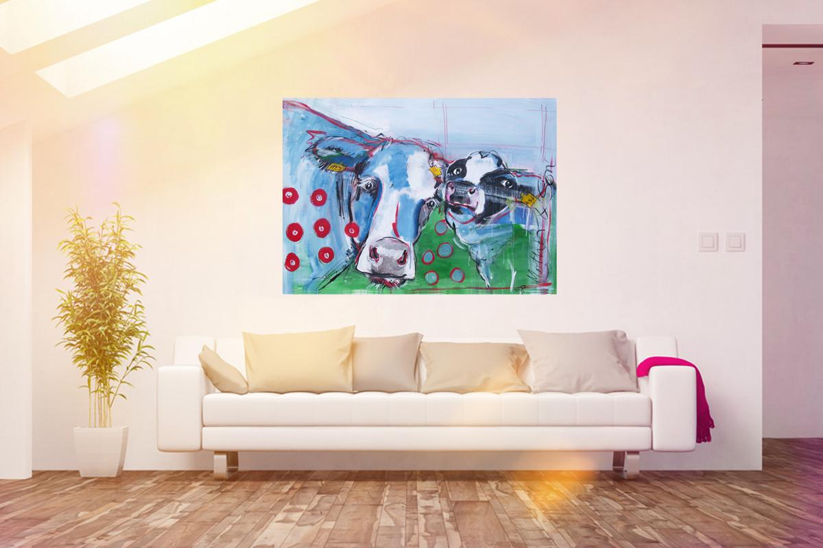 Neue Kuh Motive als Kunstdruck – Bunte Kuh Bilder auf Leinwand