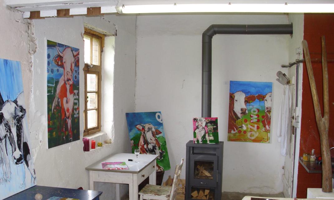 Kunstatelier von Stefanie Rogge, Ausstellung KÜHE CODIERT