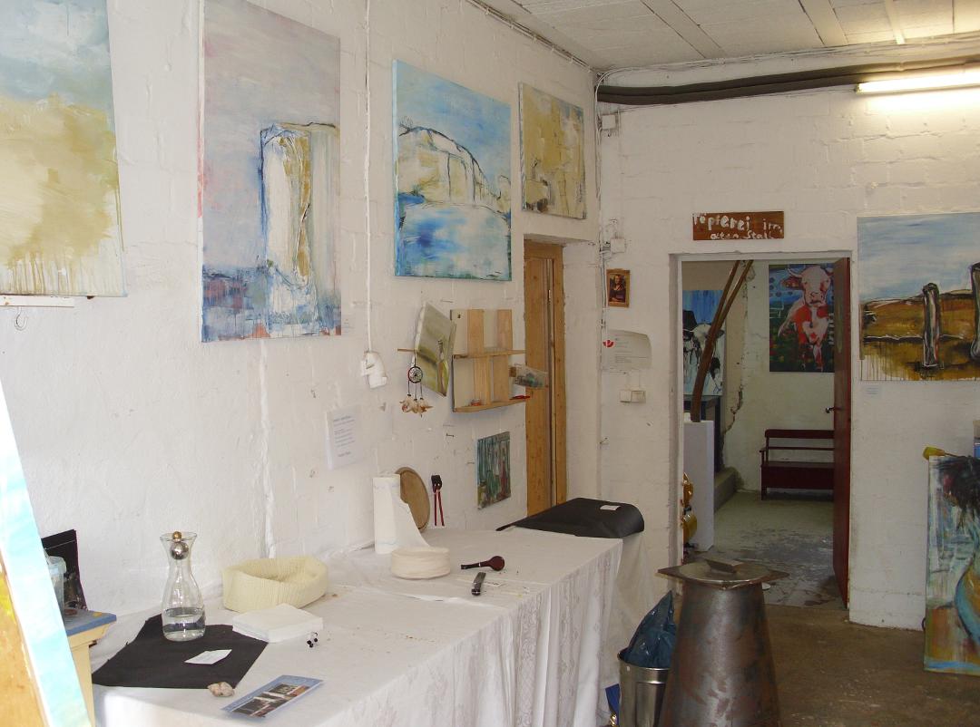 Ausstellung expressive Malerei im Kunstatelier