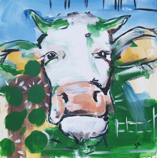 Expressionismus, Moderne Malerei Motiv Kuh