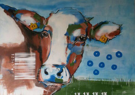 Malerei, Stefanie Rogge, Kuh 1X