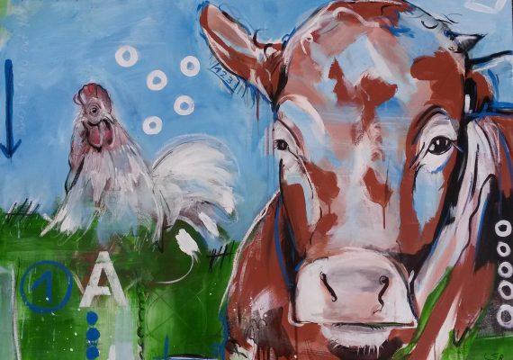 Serie Kühe codiert, Expressionismus