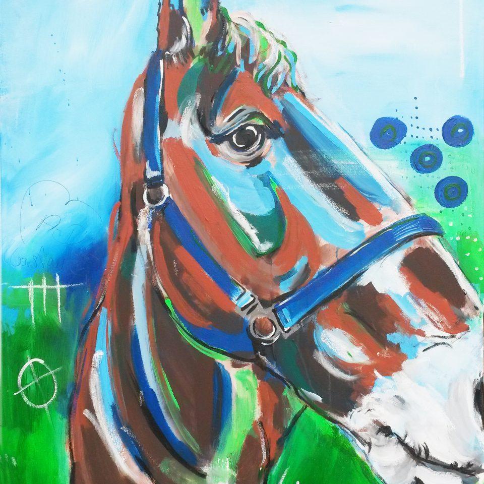 Expressive Malerei Pferd