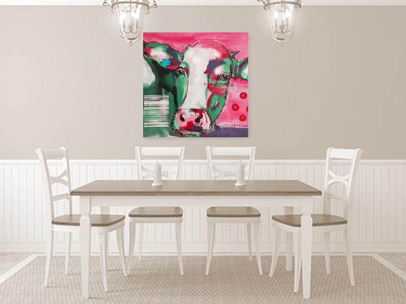 Moderne Malerei KUH, im Shop als Kunstdruck zu bestellen