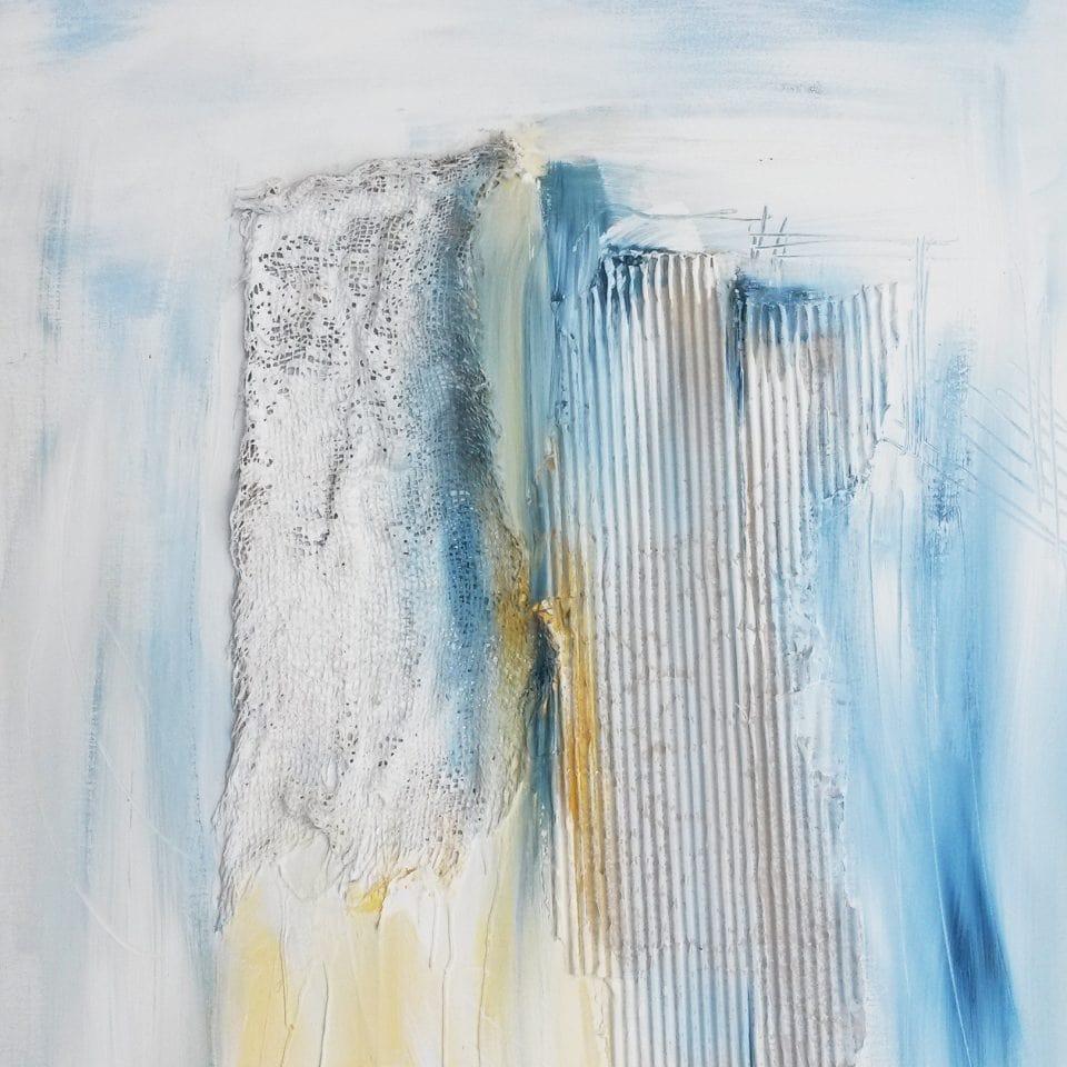 """Strandgut"" Unikat Abstrakte Malerei, 70 x 100 cm"