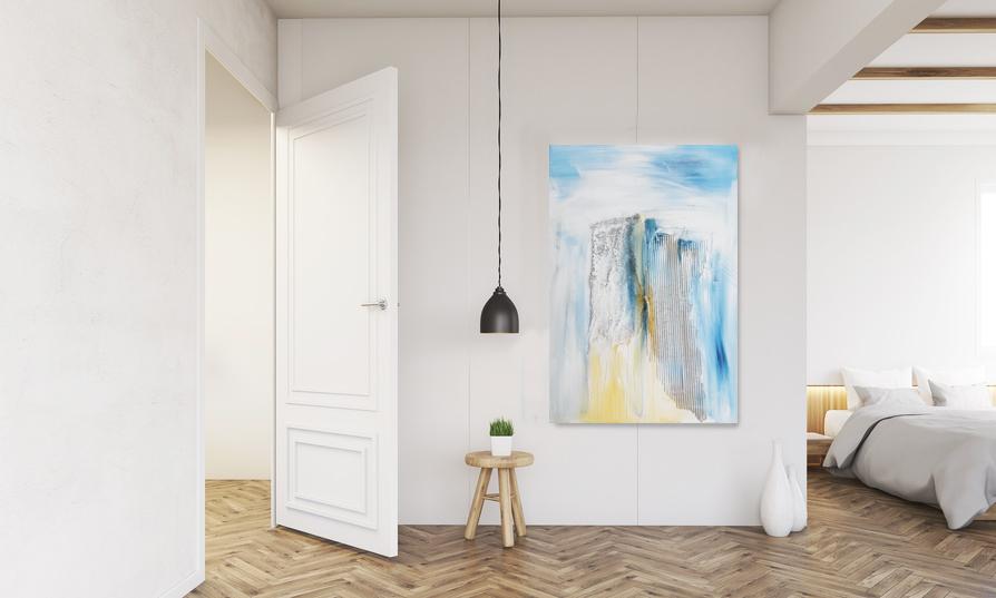 Abstraktes Bild im Raum