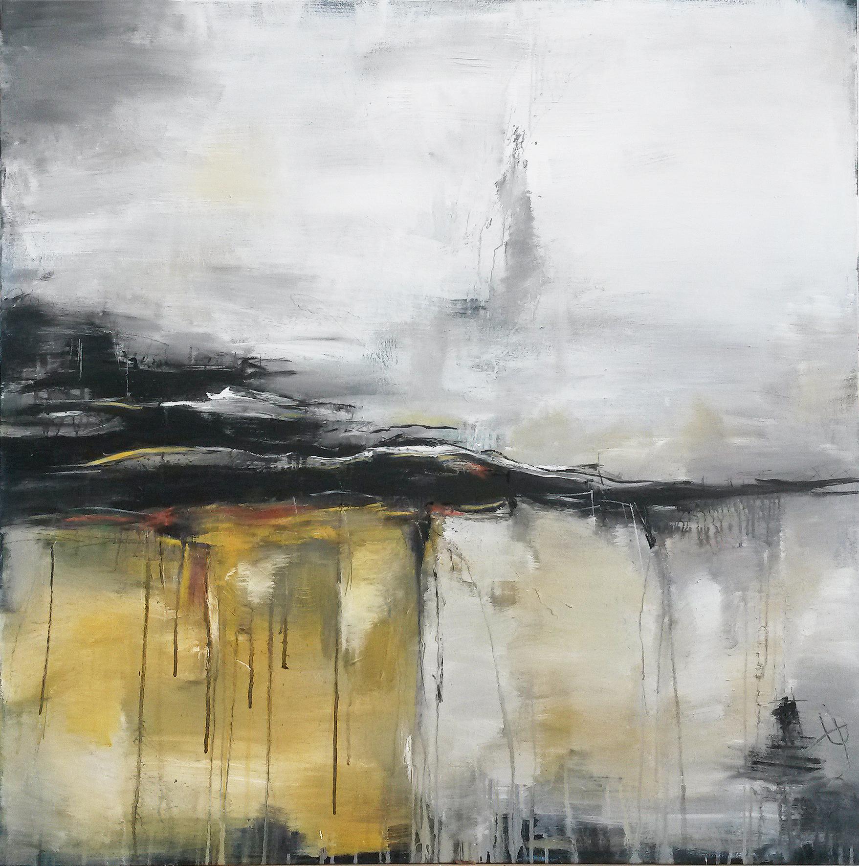 Unikat WEGE UND SPUREN; Originalgemäle 100 x 100 cm, abstract