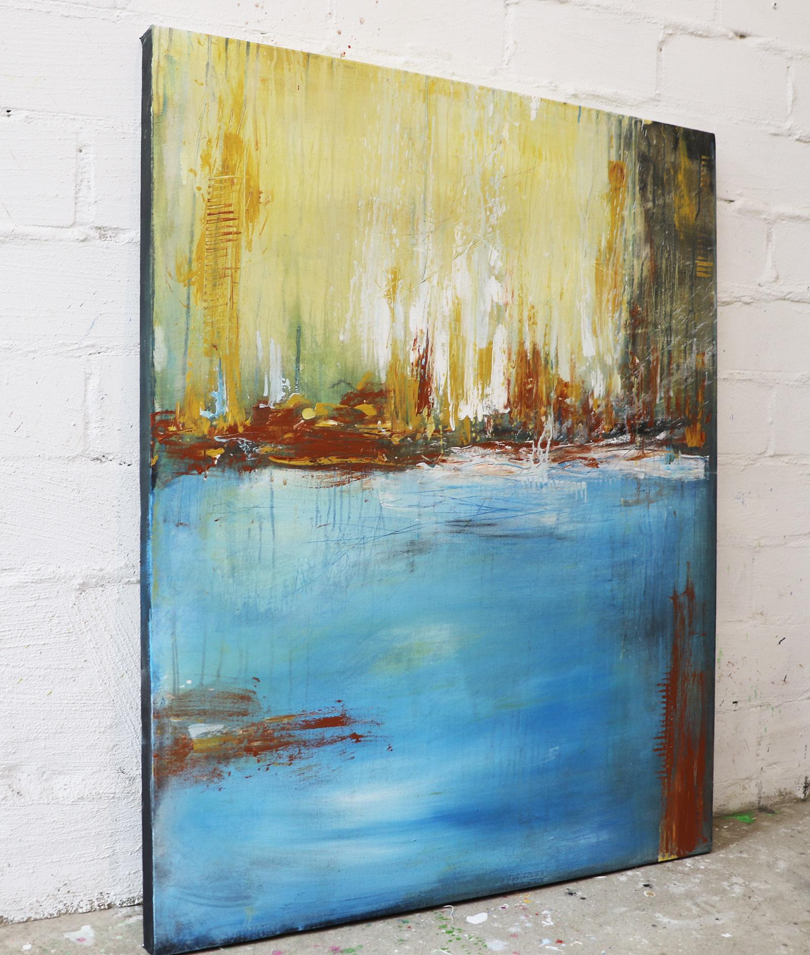 Tag am Meer, Acrylbild 80 x 100 cm, contemporary art, abstrakte malerei