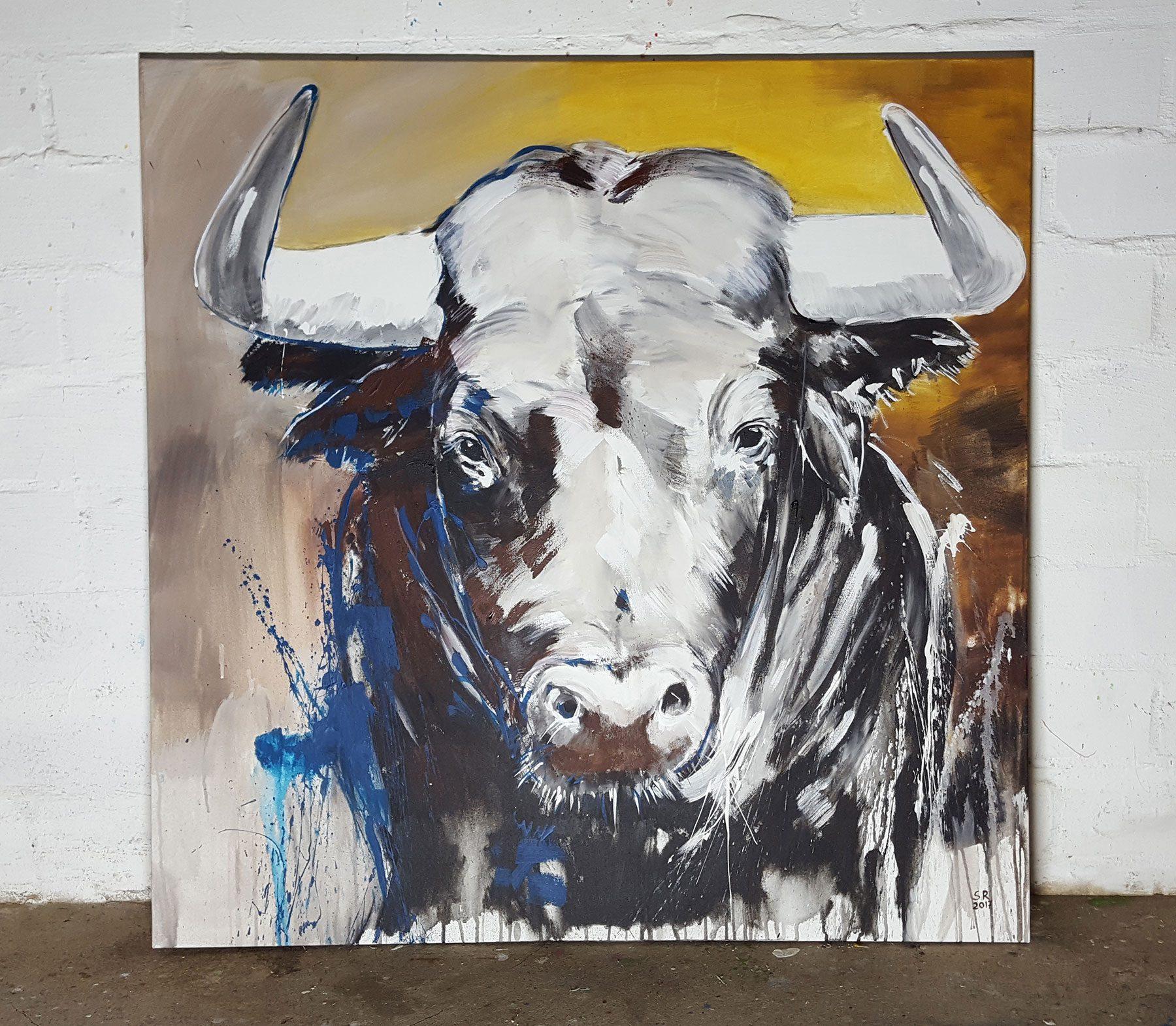 Taurus Expressive Zeitgenössische Malerei Auf Xl Leinwand