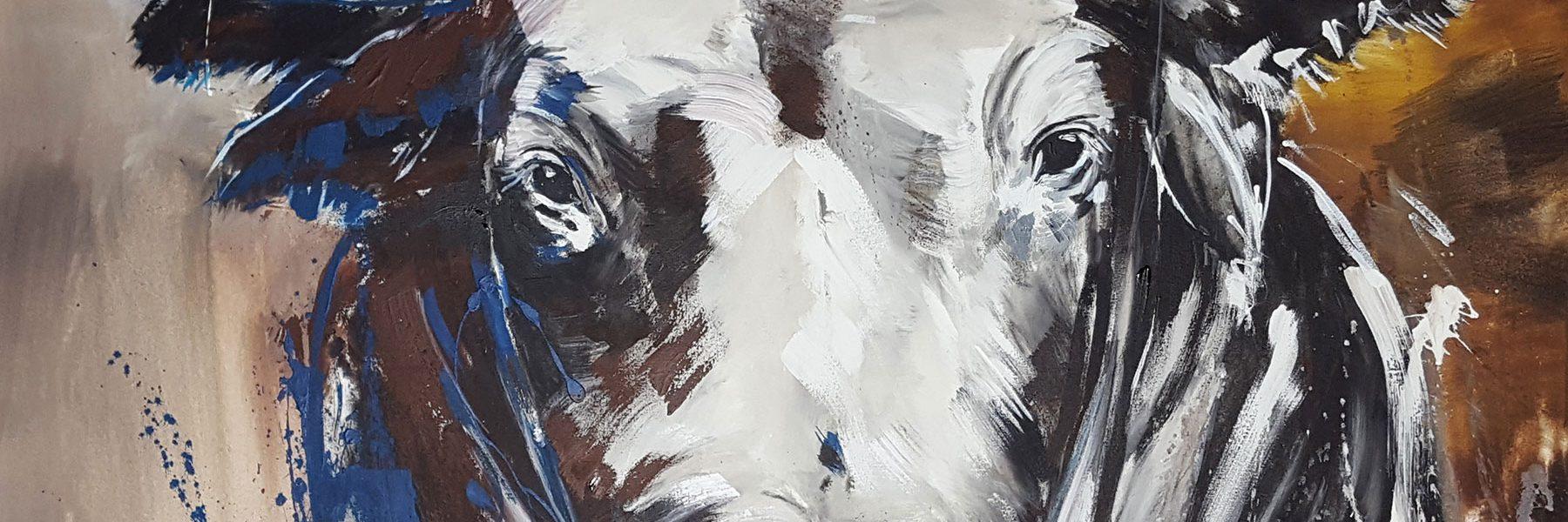 TAURUS zeitgenössische Malerei auf großformatiger Leinwand