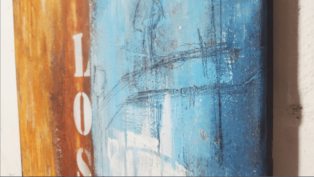 abstrakt, rostig, detail