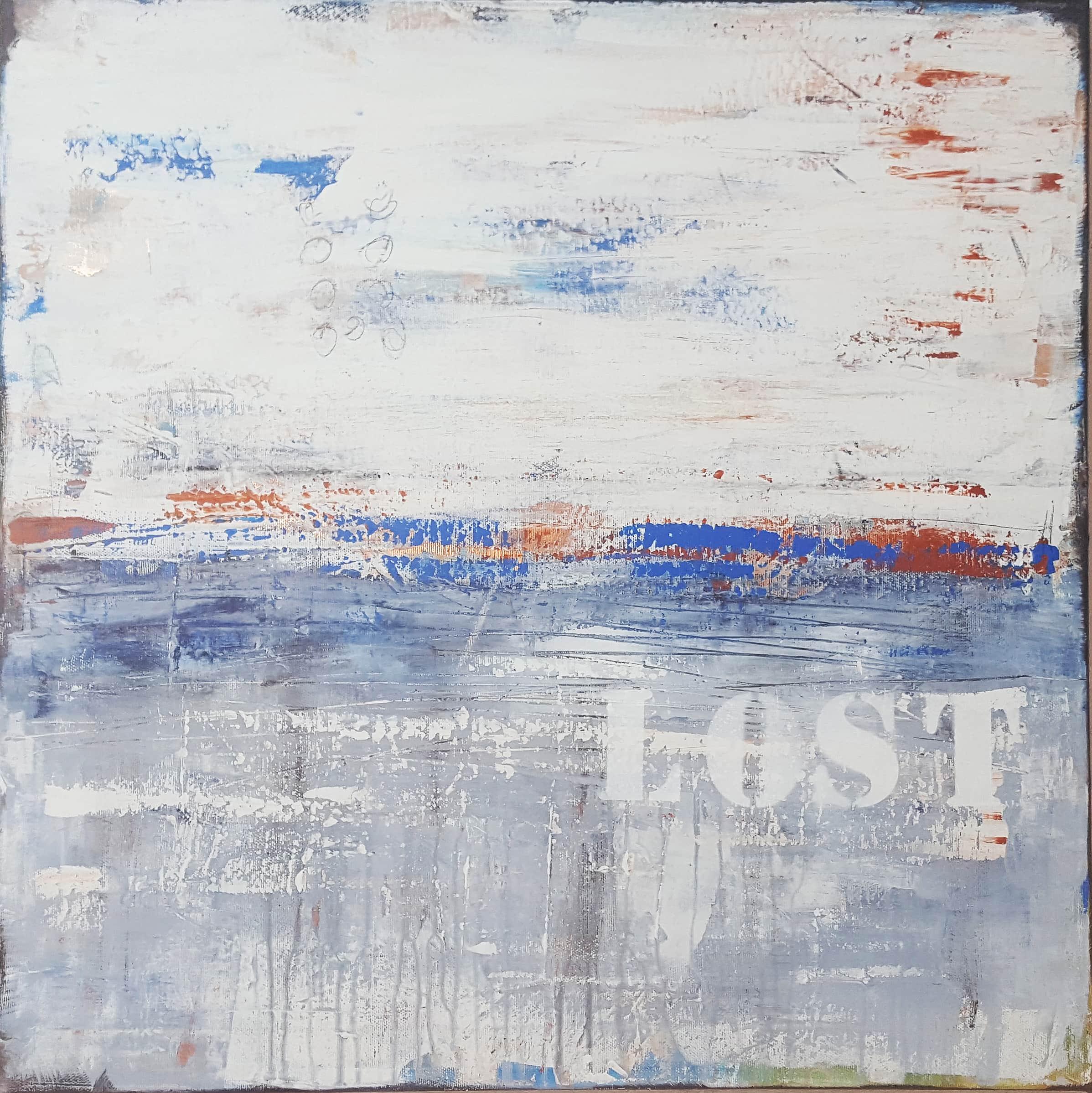 abstrakte Lost #1, Malerei von Stefanie Rogge