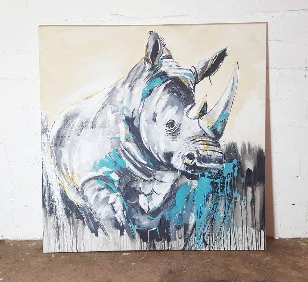 Rhino Nashorn Malerei