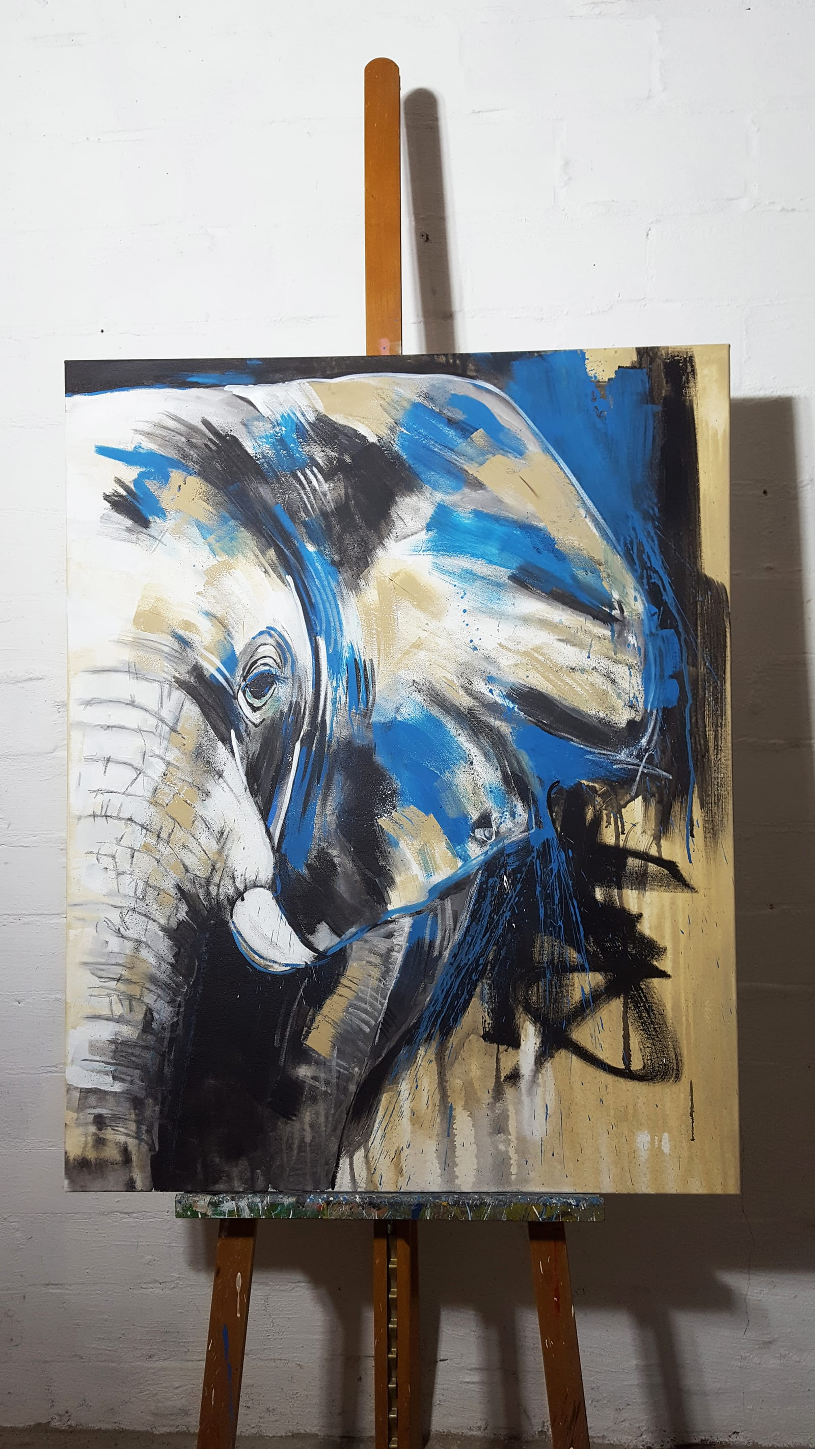 Elefant #6 auf Staffelei