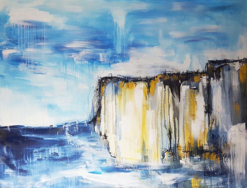 Abstraktes Landschaftsbild Klippen