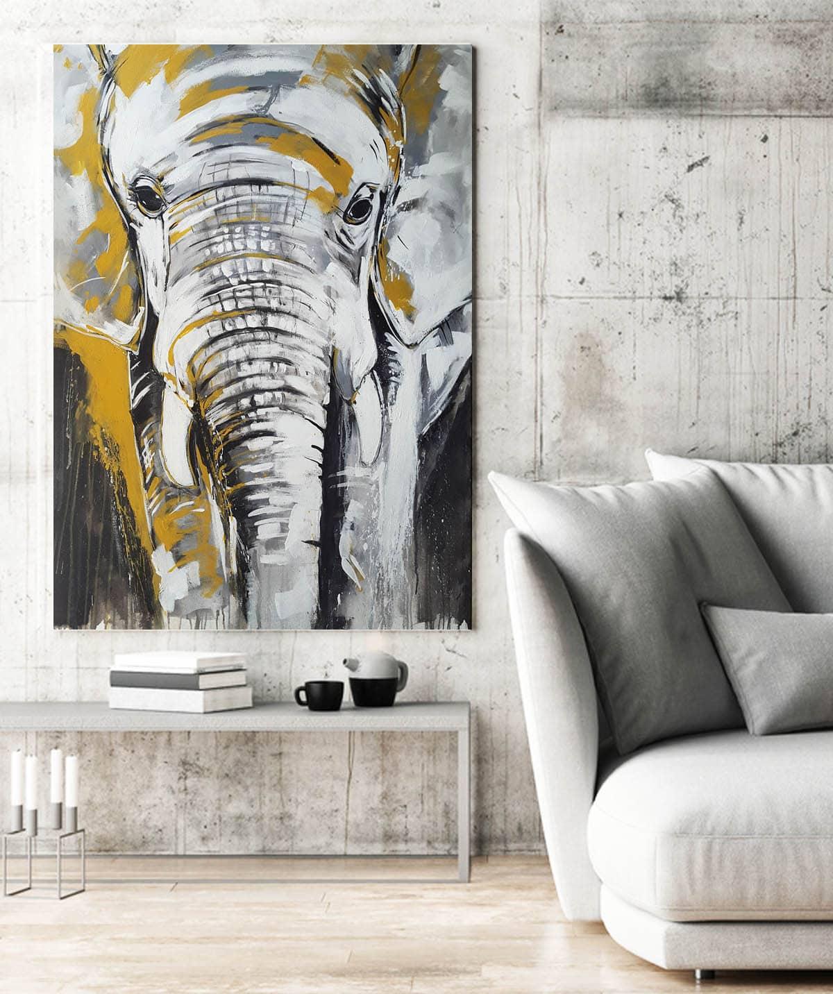 Küchensprüche Auf Leinwand ~ kunstdruck elefant #2 u201eone of the big five u201d u2014 atelier stefanie rogge
