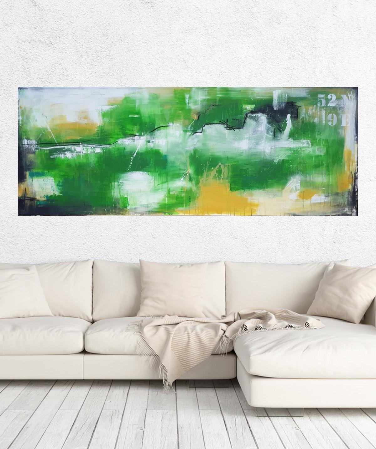 Stefanie Rogge, große Landschaftsmalerei, xxl Leinwand