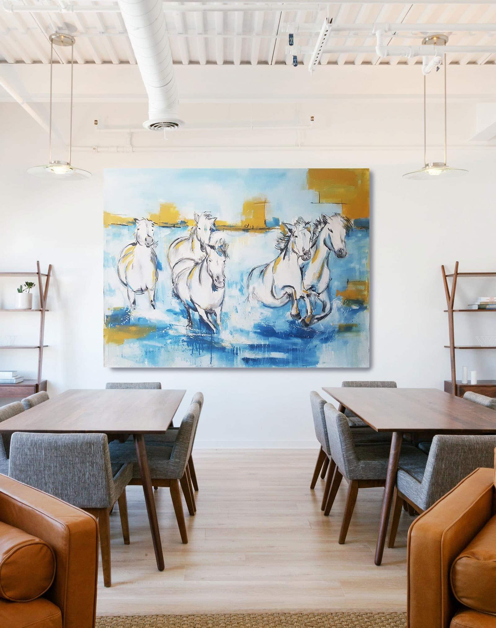 Camargue Pferde Kunst