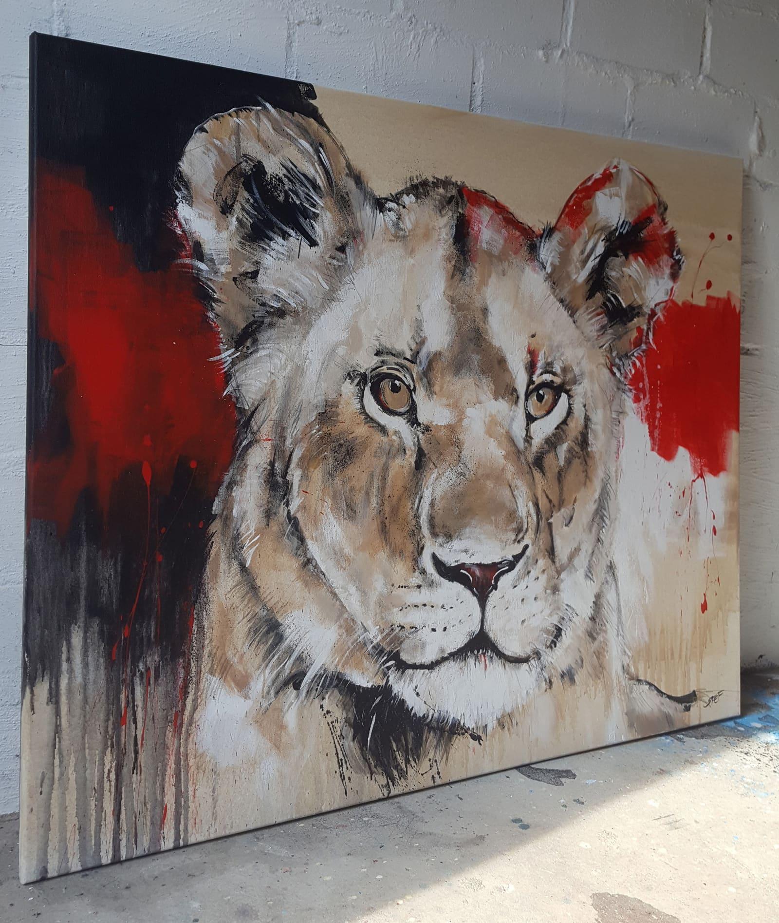 Löwin moderne Malerei