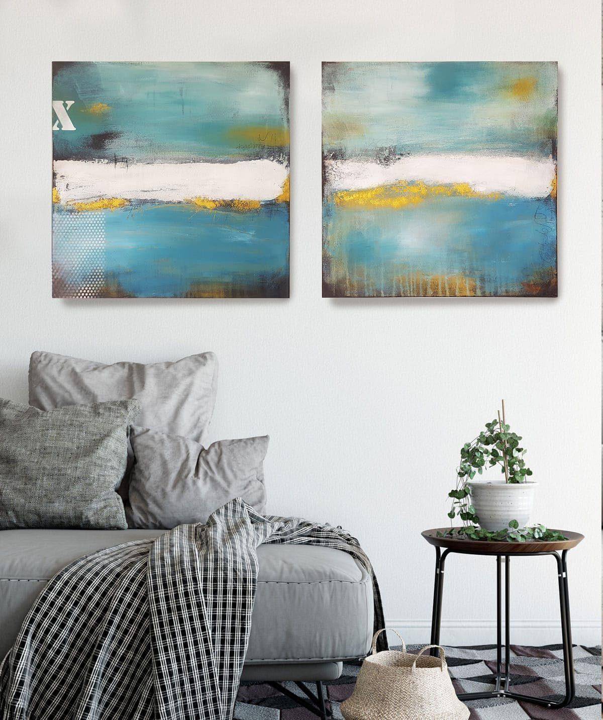 Moderne Bilder fürs Wohnzimmer – Abstrakte Malerei ...