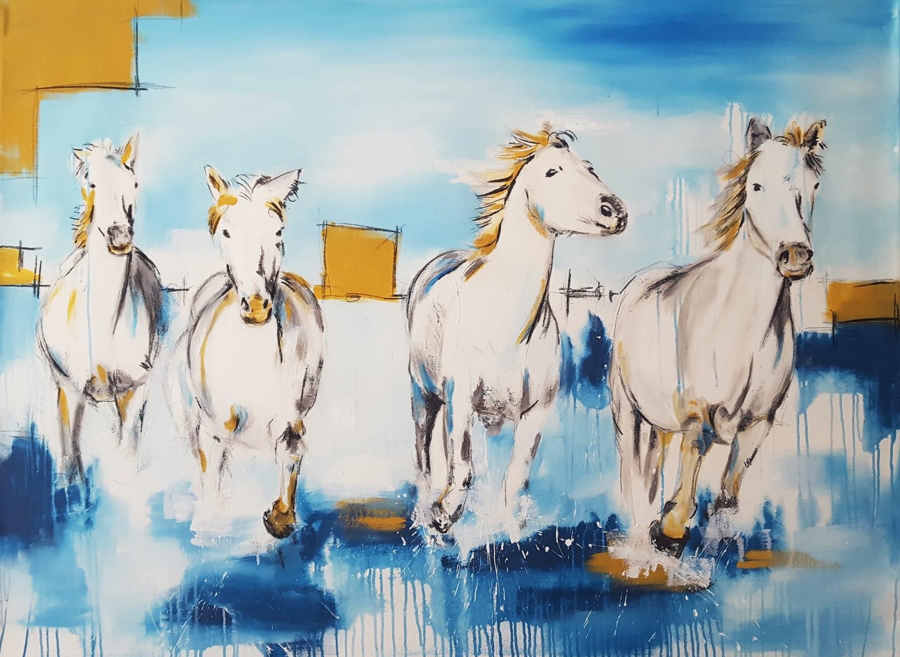 Horse2 Full Web Abstrakte Bilder Original Gemälde Malerei Kunst