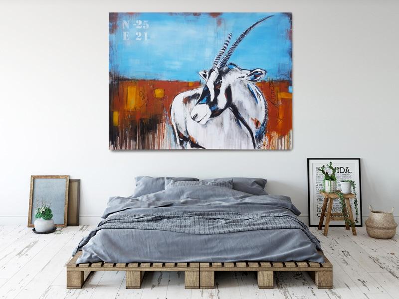 Oryx, großformatige Kunst